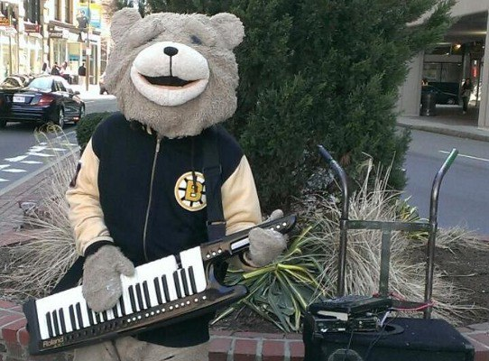 I had to convince Jim that Keytar Bear was a real thing.