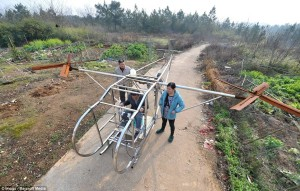 This Chinese farmer used scrap parts to make his own working helicopter. Even their rednecks are better than ours.